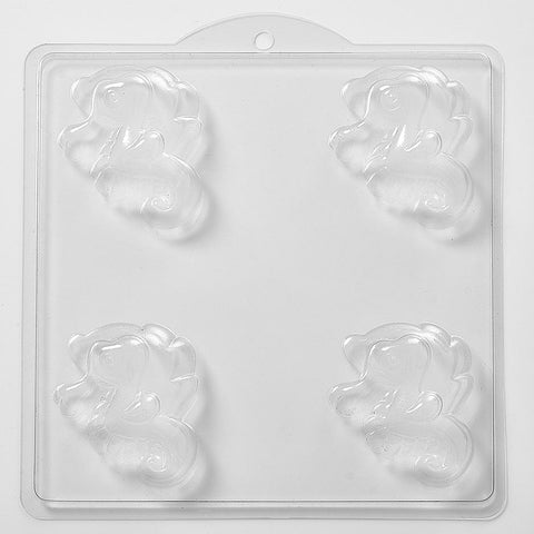 Cartoon Seahorse PVC Mould (4 Cavity)