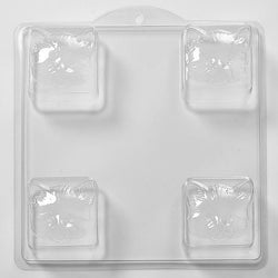 Cat Face Square PVC Mould (4 Cavity)