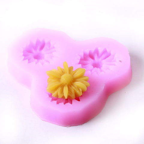 Daisy Silicone Mould (3 Cavity)