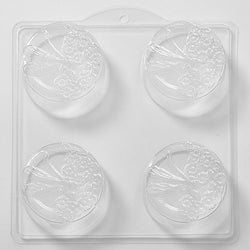 Dragonfly and Flowers Round PVC Mould (4 Cavity)