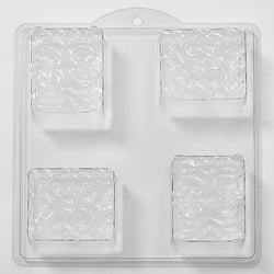 Floral Pattern In Square PVC Mould (4 Cavity)
