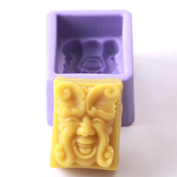 Green Man Face Silicone Mould