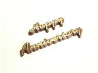 Happy Anniversary (Words) PVC Mould (3 cavity)