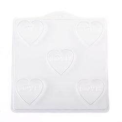 Heart with 'LOVE' PVC Mould (5 Cavity)