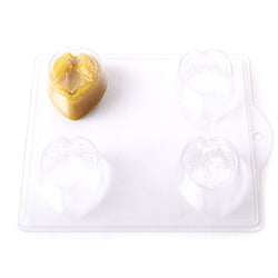 Love Birds On A Heart PVC Mould (4 Cavity)