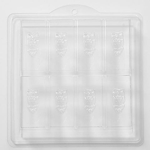 Owl Embossed On Rectangle Soap PVC Mould (8 Cavity)
