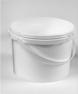 2.5 Litres White Plastic Pail Complete With White Lid