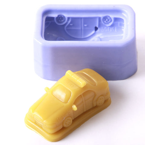 Police Car Silicone Mould
