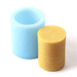Ridge Cylinder Candle Silicone Mould