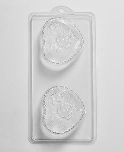 Romantic Heart & Roses Mould (4 Cavity)