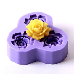Rose Silicone Mould (3 Cavity)