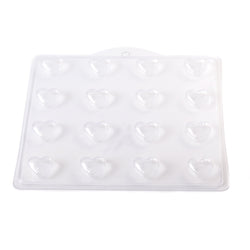 Striped Heart PVC Mould (16 Cavity)