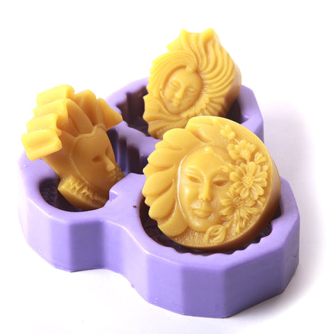 Three Faces Silicone Mould