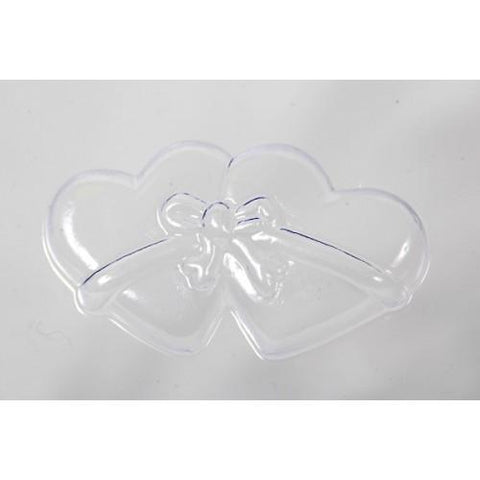 Wedding Favour Mould Double Heart Ribbon Tied (8 Cavity)