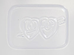 Wedding Favour Double Heart with Arrow PVC Mould (8 Cavity)
