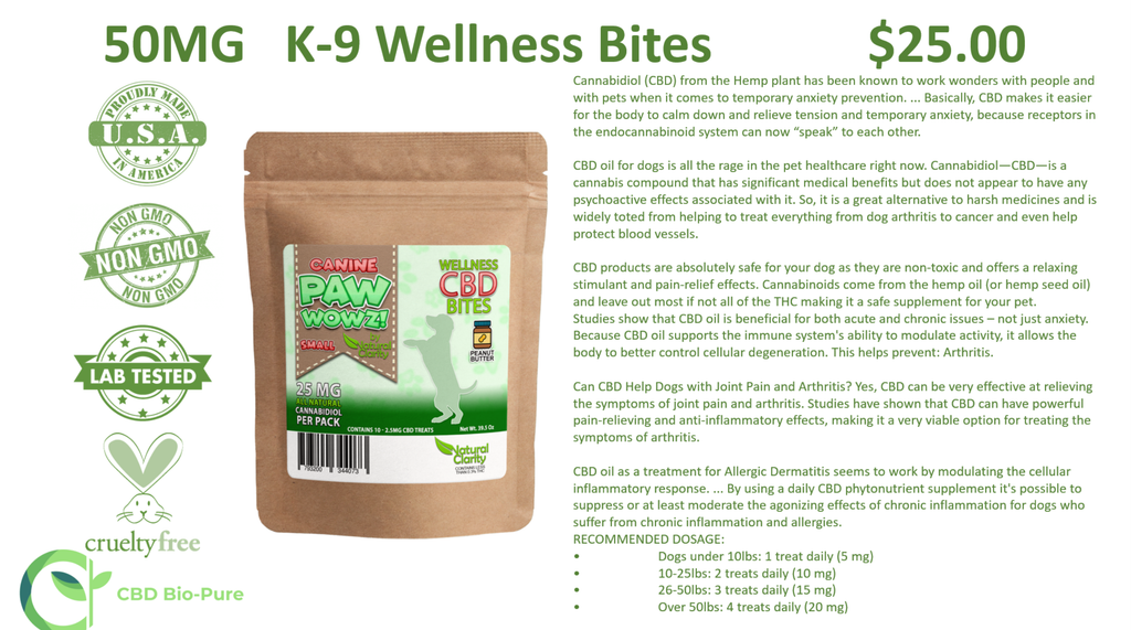 50MG   K-9 Wellness Bites (Medium Sized Dog)