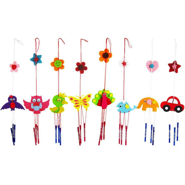 5pcs DIY Campanula Wind Chime Children Kindergarten Arts and Crafts Toys