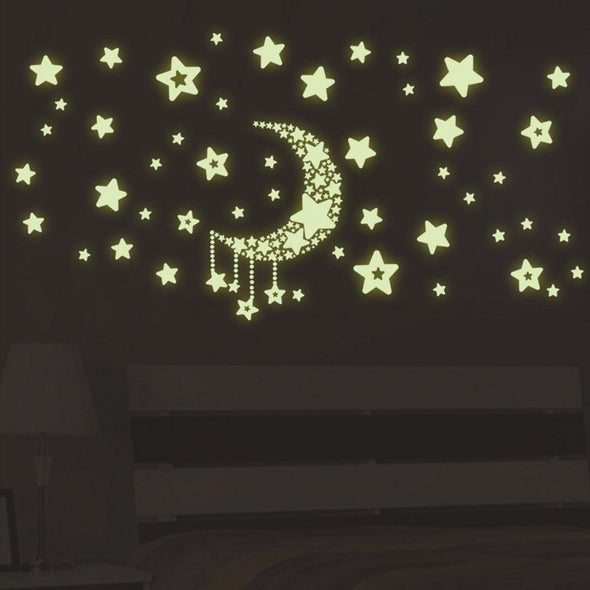 Night Light Luminous Stars Sky Wall Sticker Kids Rooms Removable Home Decor