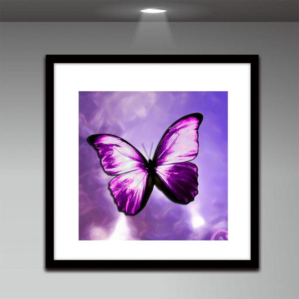 Butterfly - Partial Round Diamond - 30x30cm