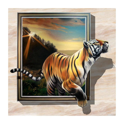 Running Tiger - Full Round Diamond - 30x30cm