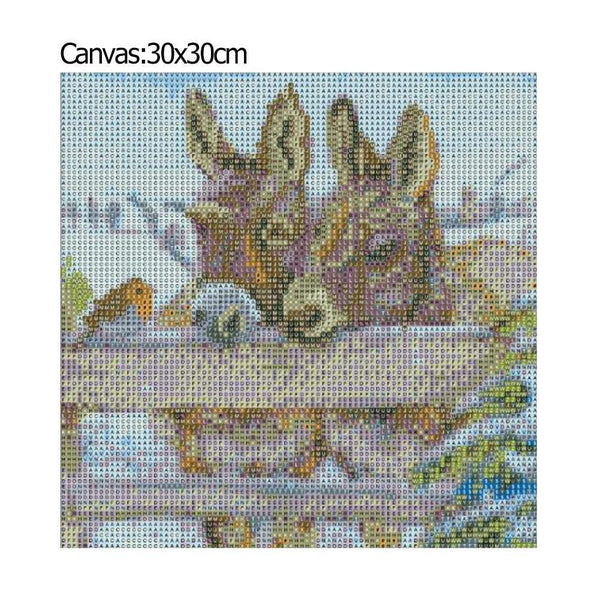 Little Donkey - Full Round Diamond - 30x30cm