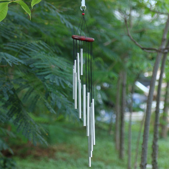 Solid Wood 12 Aluminum Tube Handmade Wind Chimes Wind Bell Crafts Ornaments