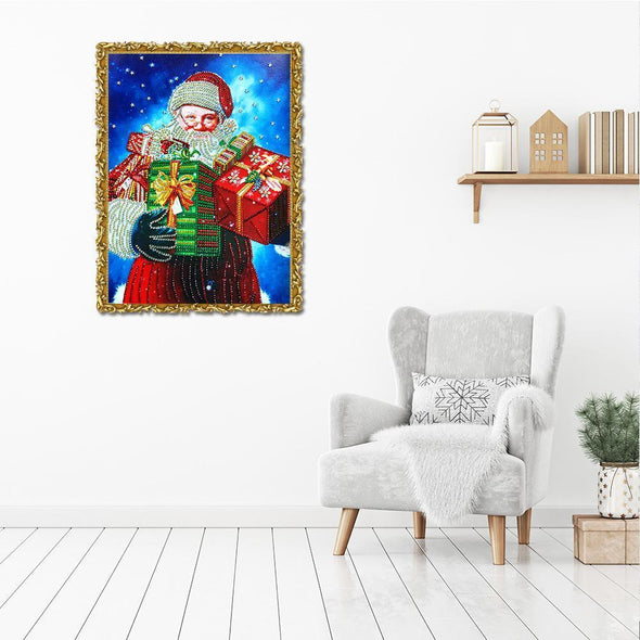 Santa Claus - Special Shaped Diamond - 40x30cm