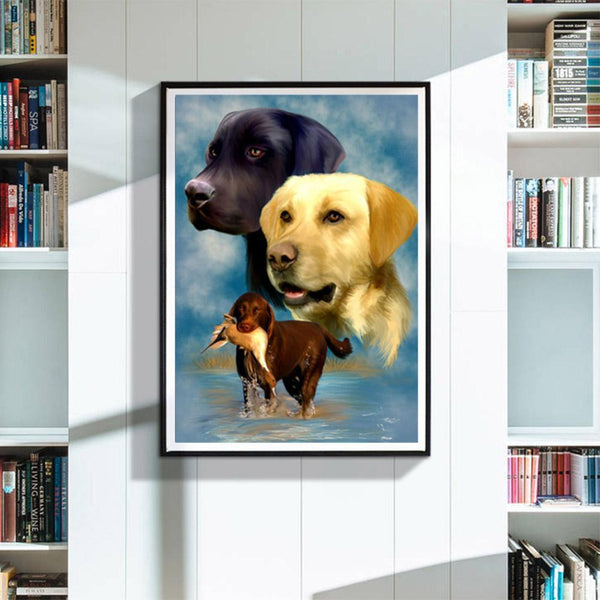 Dog Full Drill DIY DIY Diamond Painting