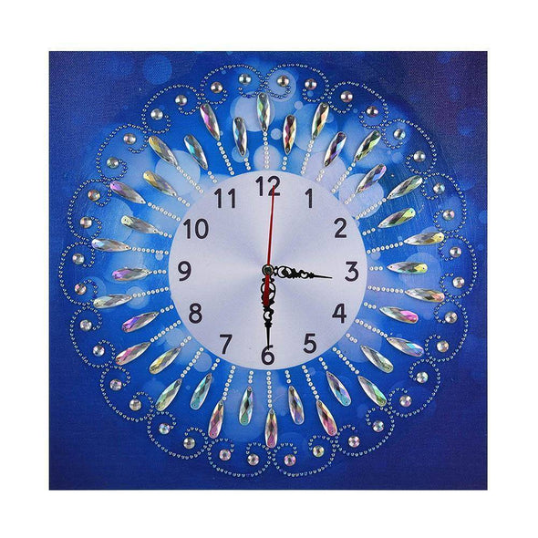 Novelty Flower Clock - Special Shaped Diamond - 35x35cm
