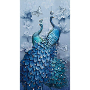 5D DIY Full Drill Square Diamond Painting Peacock Mosaic Kit