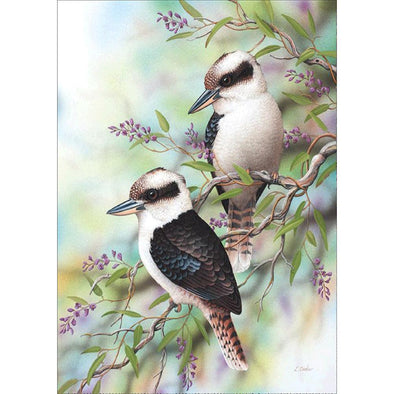 Singing Birds - Full Round Diamond - 40x30cm