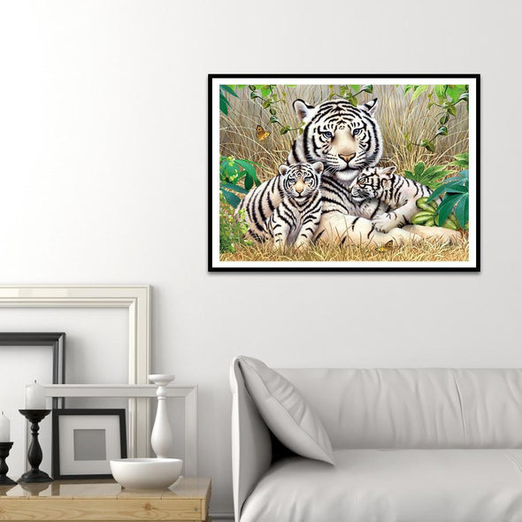 Tiger  - Full Round Diamond - 40x30cm