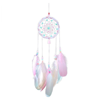 Hollow Wind Chimes Handmade Dreamcatcher Feather Pendant Wall Hanging Decor
