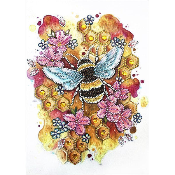 Bee - Special Shaped Diamond - 30x40cm