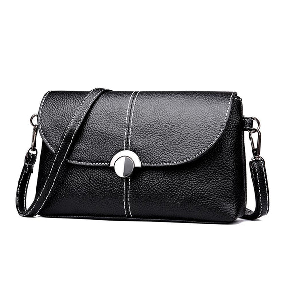 Women Litchi Pattern Shoulder Messenger Packs LeatherSmall Crossbody Bags