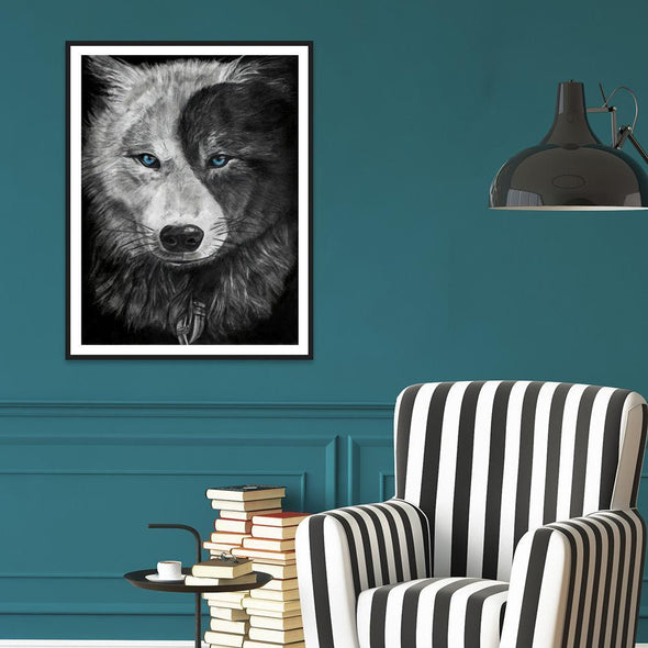 Wolf  - Full Round Diamond - 30x40cm