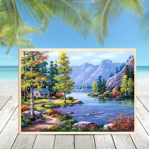 Scenery  - Full Round Diamond - 40x30cm