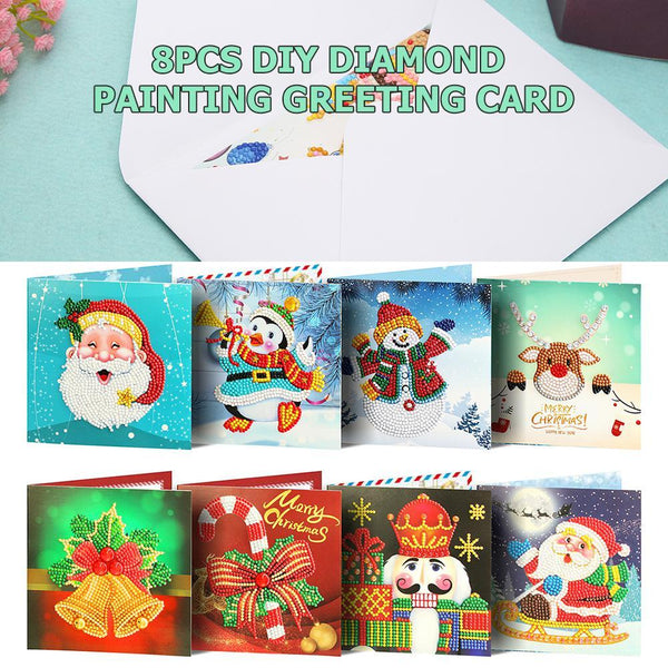 DIY Diamond Painting Greeting Card Special-shaped Birthday Festival Gift