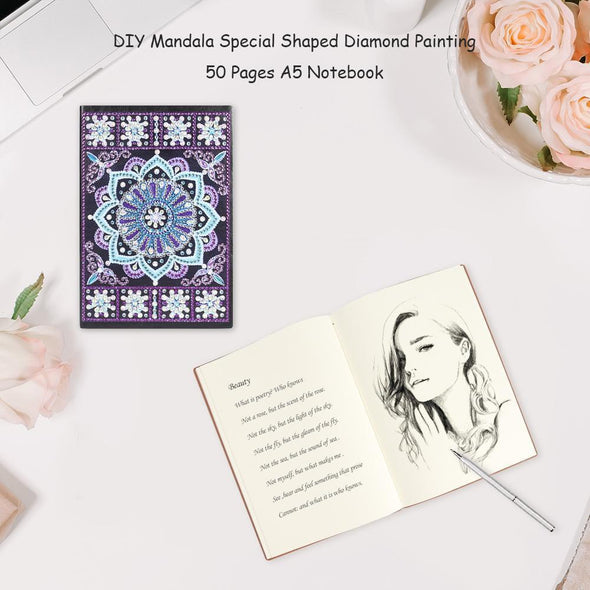 Mandala 50 Sheets Students A5 Notebook