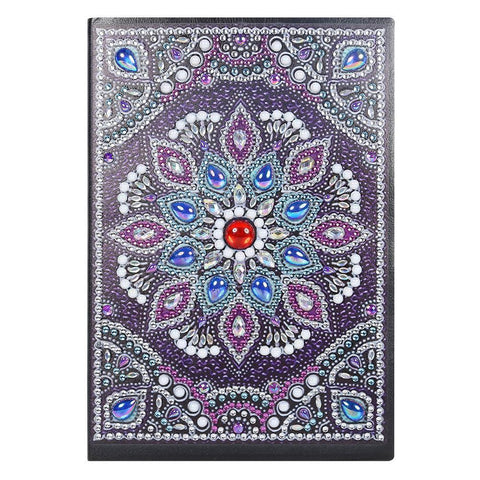 DIY Mandala Special Shaped Diamond  50 Pages A5 Notebook Notepad (Without Lines)