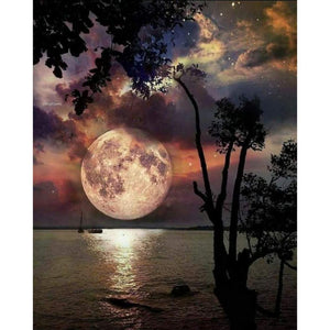 Full Drill Diamond Painting Moon Scenery Pattern DIY