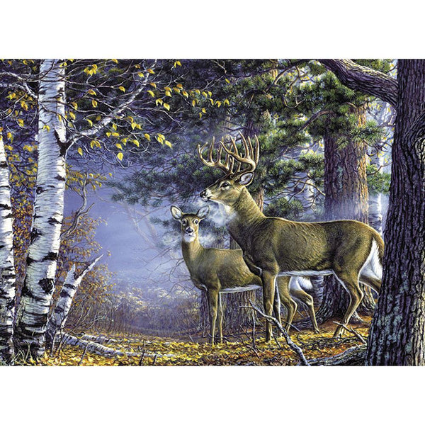 DIY Full Drill Diamond Painting Deer Nature Pattern