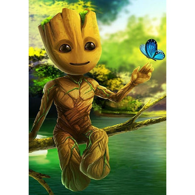 Marvel Groot - Full Drill DIY Diamond Painting