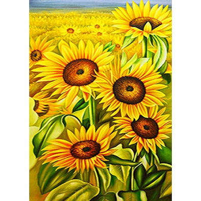 Sunflower  - Full Round Diamond - 30x40cm