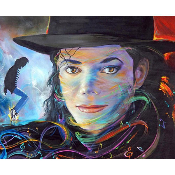 Michael Jackson  - Full Round Diamond - 30x40cm