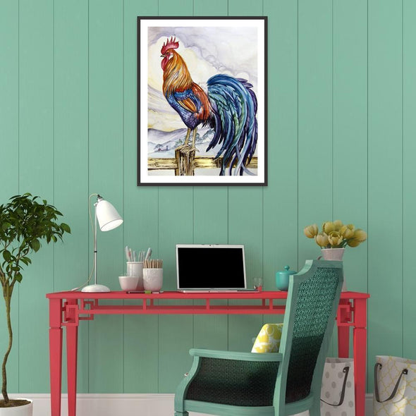 Rooster  - Full Round Diamond - 30x40cm