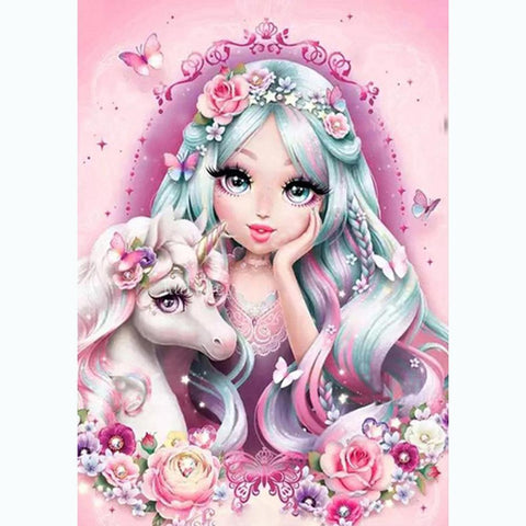 Unicorn and girl DIY Full Drill Diamond Painting