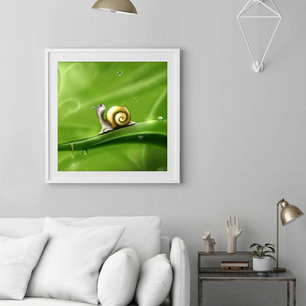 Snail  - Full Round Diamond - 30x30cm