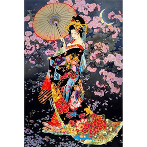 Geisha  - Full Round Diamond - 30x40cm
