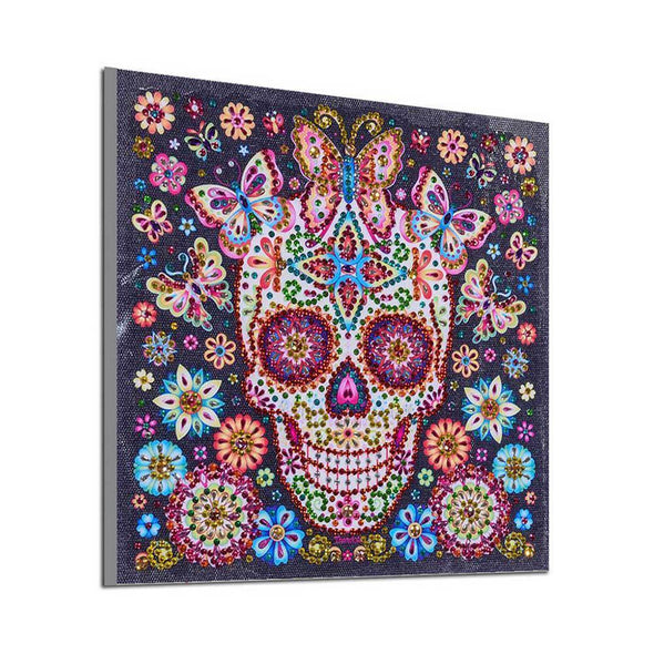 Special Shaped Flower Skull Special Shaped Paintings